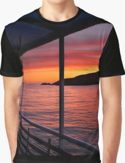 "Sunrise on board of F/B ""Aiolis"" Graphic T-Shirt"