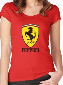 ferrari best logo Women's Fitted Scoop T-Shirt
