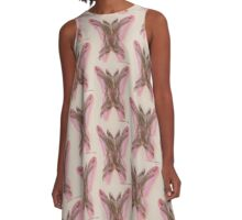 Feet and Butterfly A-Line Dress