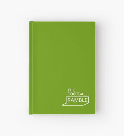 Ramble logo white on green – notebooks Hardcover Journal