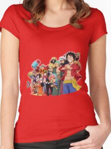 monkey d luffy Women's Fitted Scoop T-Shirt