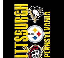 Pittsburgh Sports iPhone Case by Tim Miklos