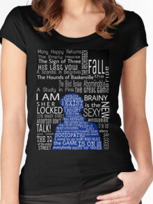 Sherlock Quotes Women's Fitted Scoop T-Shirt