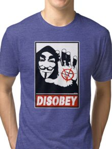 DISOBEY (Anonymous) Tri-blend T-Shirt