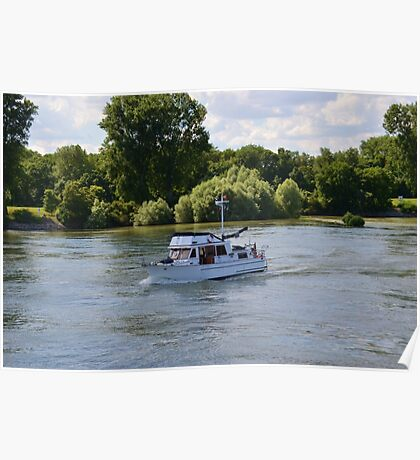 Grand Banks Style Motor Boat Poster