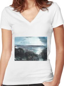 Seaface Women's Fitted V-Neck T-Shirt