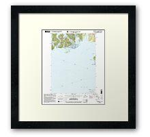 USGS TOPO Map Alaska AK Cordova C-7 355201 2000 63360 Framed Print