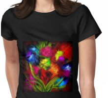 Poésie Florale Womens Fitted T-Shirt