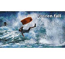Frozen fall Photographic Print