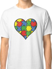 Autism Awareness Heart Classic T-Shirt