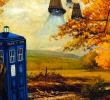 Dr Who painting Sticker