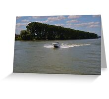 High Speed Motor Boat Greeting Card