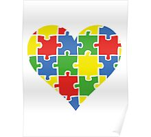 Autism Awareness Heart Poster