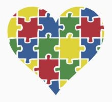 Autism Awareness Heart One Piece - Long Sleeve
