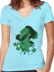 Jaylen Brown Women's Fitted V-Neck T-Shirt