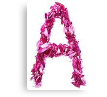 A ALPHABET ICON FROM ROSE Canvas Print