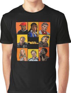 -TARANTINO- Jackie Brown Cartoon Graphic T-Shirt
