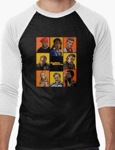 -TARANTINO- Jackie Brown Cartoon Men's Baseball ¾ T-Shirt