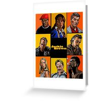 -TARANTINO- Jackie Brown Cartoon Greeting Card