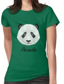 Lowpoly panda Womens Fitted T-Shirt