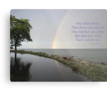 A Song of Rainbows Metal Print