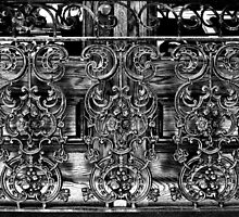Wrought Iron Black and White by marybedy