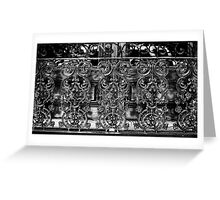 Wrought Iron Black and White Greeting Card