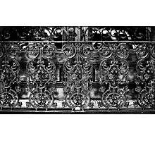 Wrought Iron Black and White Photographic Print
