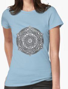 Henna Doodle Mandala Womens Fitted T-Shirt