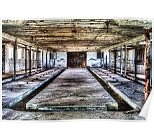 Abandoned Barn Interior I Near Hampshire Illinois Poster