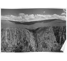 Black Canyon of the Gunnison 3 BW Poster