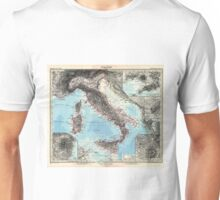 Vintage Map of Italy (1891) Unisex T-Shirt