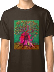 Green and Pink Nature Tree Classic T-Shirt