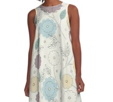 Decorative seamless pattern with stylish flowers and leaves A-Line Dress
