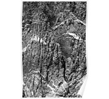 Painted Wall Black Canyon of the Gunnison BW Poster