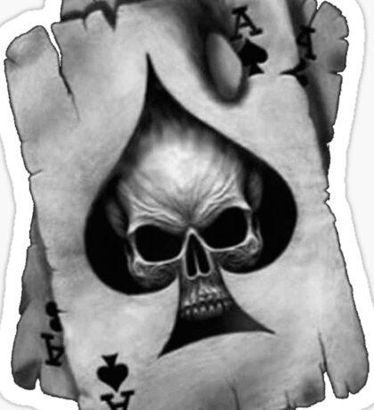 Ace of Skulls  Sticker