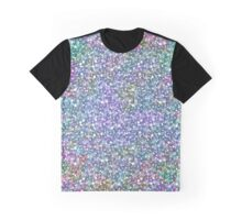 Colorful Faux Glitter Print Graphic T-Shirt