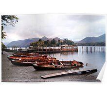 Boats at Keswick Jetty Poster