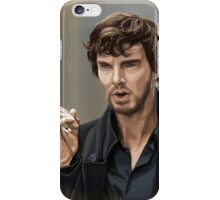 Sherlock with beard iPhone Case/Skin