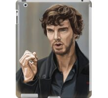 Sherlock with beard iPad Case/Skin