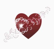 Dandelion heart One Piece - Short Sleeve