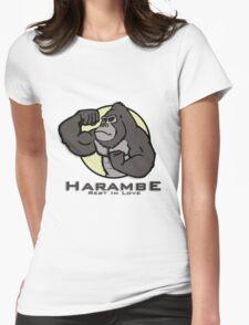#1  HARAMBE CARTOON Womens Fitted T-Shirt