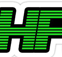 Retro PHP7 Scanline Hacker Logo Sticker
