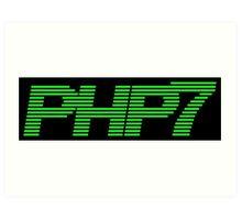 Retro PHP7 Scanline Hacker Logo Art Print