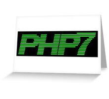 Retro PHP7 Scanline Hacker Logo Greeting Card