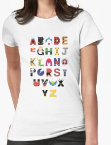Super Hero Alphabet Womens Fitted T-Shirt