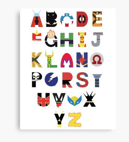 Marvel Superhero Alphabet Canvas Print