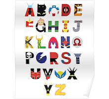 Marvel Superhero Alphabet Poster
