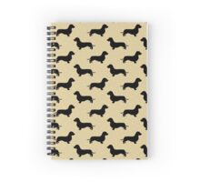 Wire Hair Dachshund Cream Pattern Spiral Notebook
