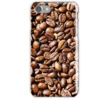 Meer aus Kaffeebohnen als Hintergrundbild iPhone Case/Skin